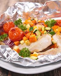 Горбуша в духовке в фольге с овощами