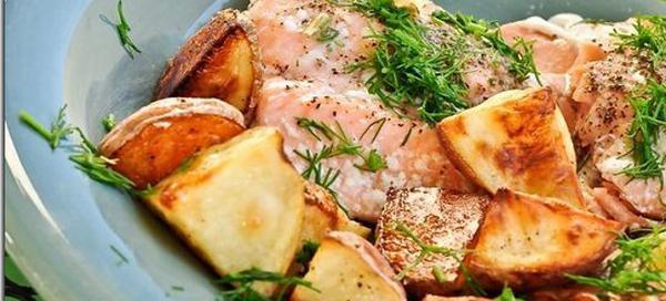 Горбуша с картошкой в фольге в духовке